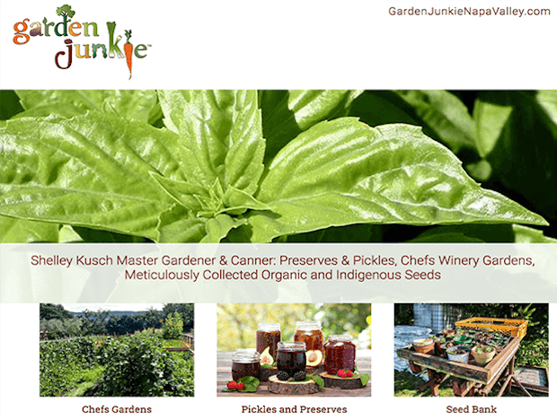 Eve Lurie Portfolio: gardenjunkie site