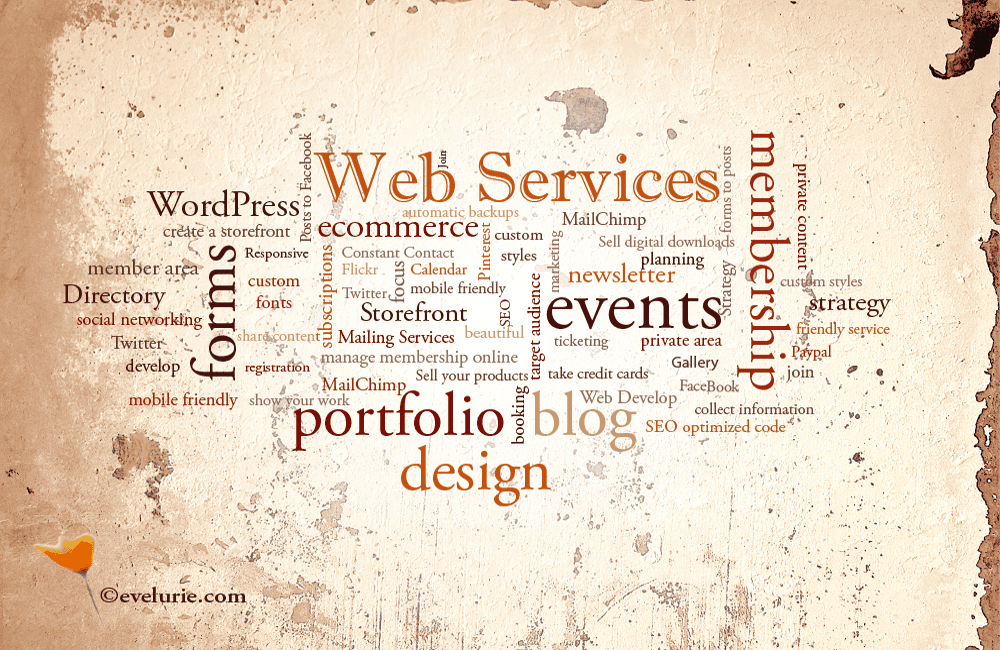 evelurie.com web services infographic