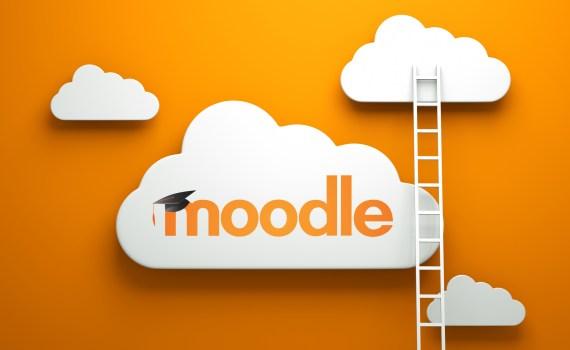 Logo de Moodle dans un nuage