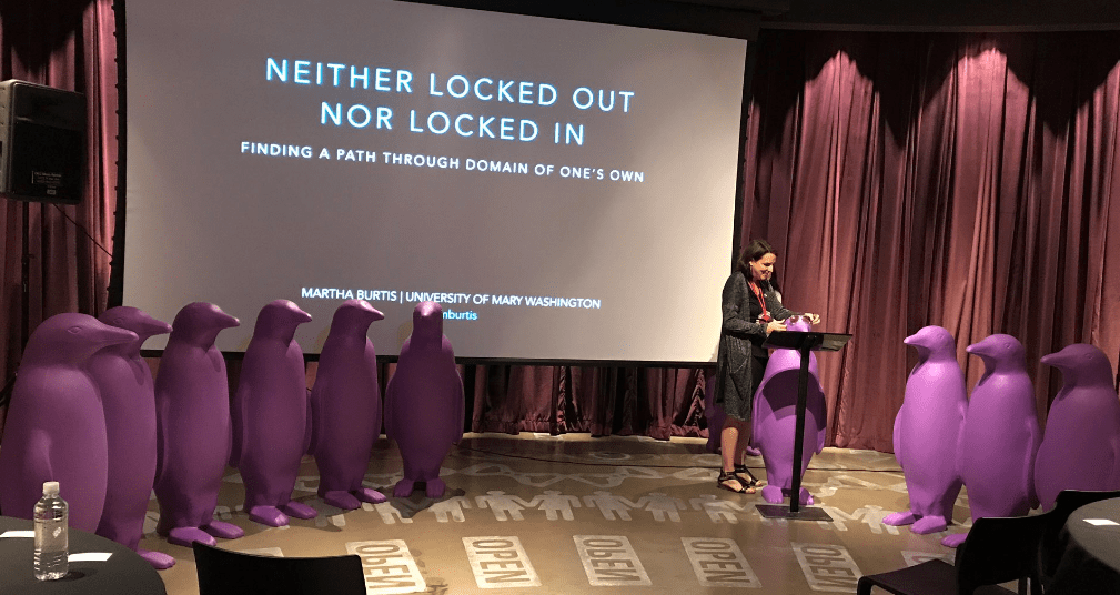 Keynote: Neither Locked out Nor Locked In, Finding a Path Through Domain of One's Own