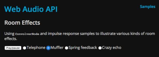 Web Audio API Room effects