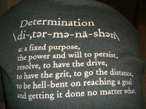 determinatioin