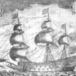 Etching of the warship Sovereign of the Seas