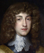 Oil painting of young man with long, curly hair.