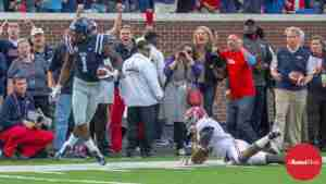 WR Laquon Treadwell (1) had 5 catches for 55 yards and 1 TD. (Photo Credit: Bentley Breland)