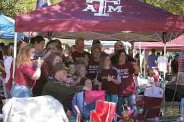 Aggies enjoy their tailgating, which is spread all across the campus.