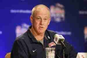 Offensive Coordinator Dan Werner met with the media Sunday. (Photo credit: Chick-fil-A Peach Bowl)