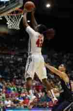 Stefan Moody scored 26 points in the Rebels' comeback win. (Photo credit: Joshua McCoy, Ole Miss Athletics)