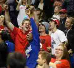 Marshall Henderson was on hand to watch his Rebels play. (Photo credit: Joshua McCoy, Ole Miss Athletics)