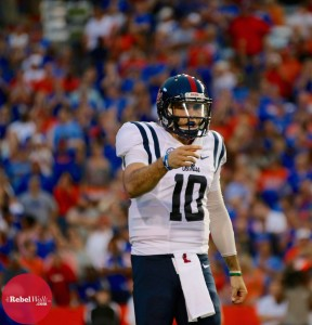 Chad Kelly is determined his Rebels' offense will improve. (Photo credit: Amanda Swain, The Rebel Walk)