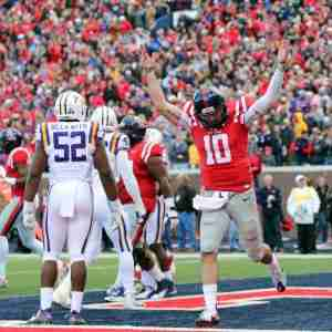 Chad Kelly finished 19-of-34 for 280 yards in the air and two TDs. He also scored two rushing TDs. (Photo credit: Joshua McCoy)