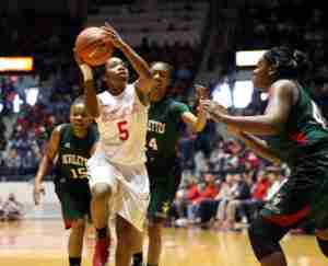 Erika Sisk added 15 points in the win over MVSU. (Photo credit: Joshua McCoy, Ole Miss Athletics)