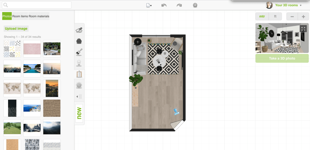 Want to create awesome photorealistic visuals?Roomstyler is here to help! Roomstyler is an online tool that allows you to create beautiful floorplans and 3D renders with minimal effort.