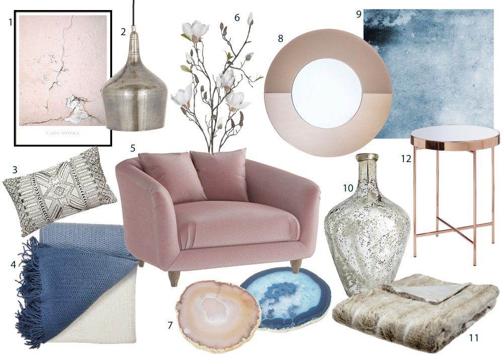 Create an air of opulence with a look that combines luxe materials, soft pastel tones and refined rustic touches that are irresistibly feminine, elegant and easy to live with. This look is ideal for creating a relaxing bedroom. Upholstered furniture and tables with slimline metal edges are key to nailing this trend. You can also try this trend in a period property to give it a warm, contemporary feel.