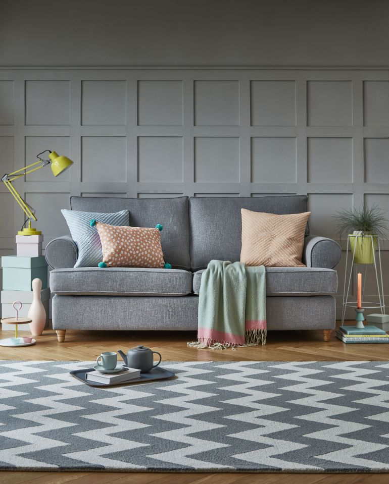 Willow & Hall The Buttermere Sofa In Zinc