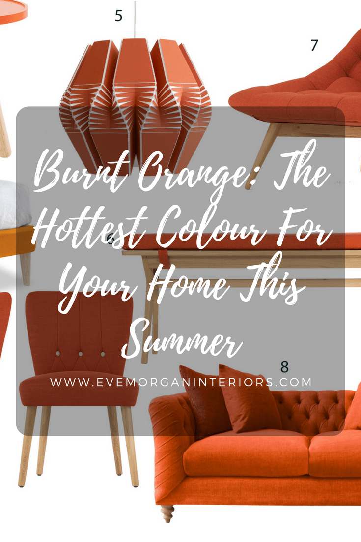 Whether you're working with a muted minimalistic palette or opting for deeper, darker tones, burnt orange can be used to add a glowing warmth. Because it has a natural tone, burnt orange manages to be somehow bold and subtle all at the same time. And it works exceptionally well as an accent colour within a room too!