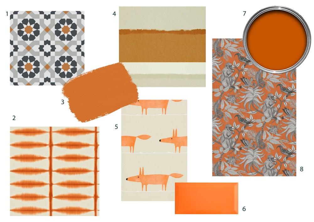 Burnt Orange walls