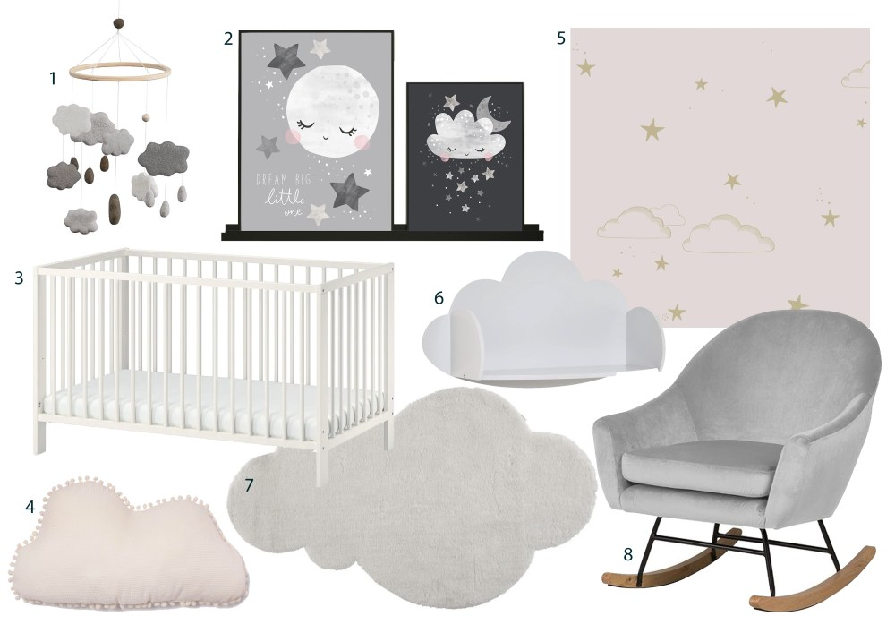Clouds and stars Nursery