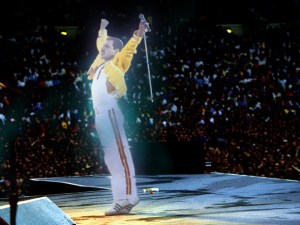QUEEN CONCERT AND PARTY, WEMBLEY, LONDON, BRITAIN - 1986