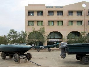 Speedboats used during the 1961-1991 struggle for independence are outside the Southern Red Sea National Museum at Massawa, Eritrea.