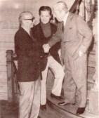 Ben Molar, Ernesto Sabato, Julio de Caro en 1977