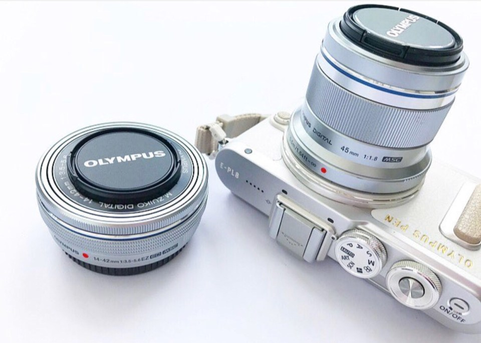 The Olympus pen epl8 with 45mm lens