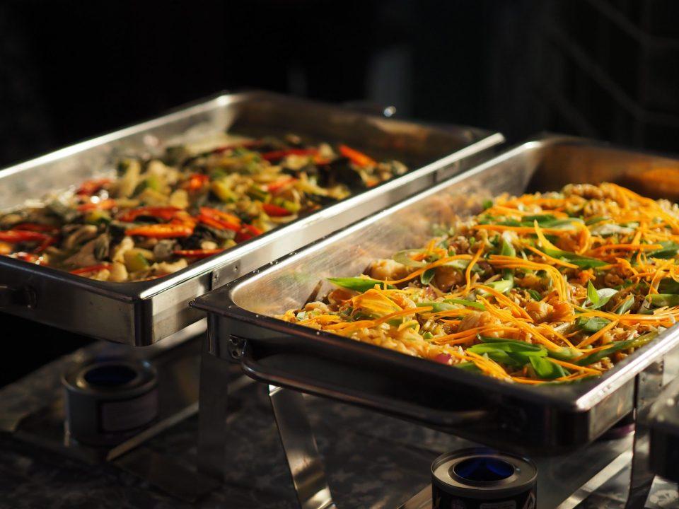 thai cuisine in buffet dishes