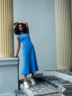 Saint Heron Dress - Periwinkle