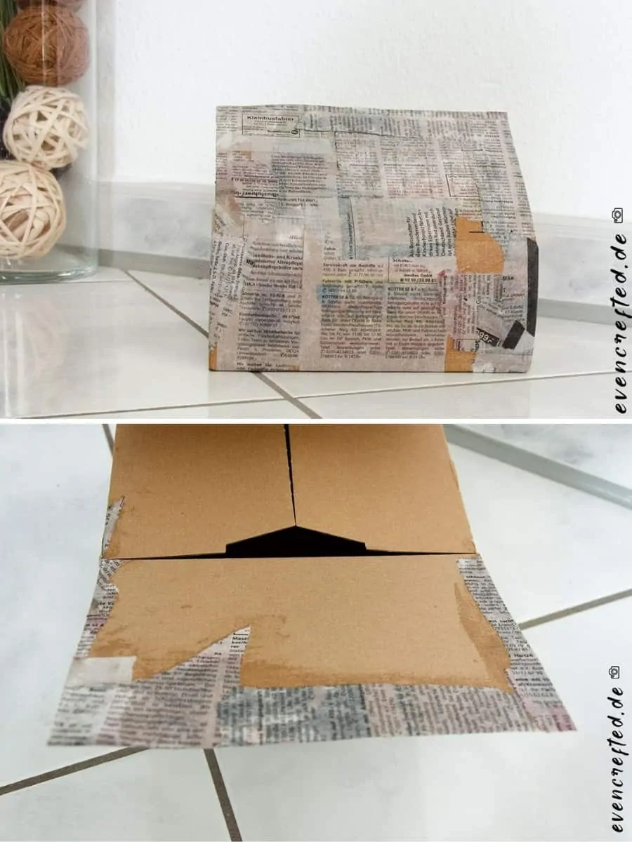 Upcycling Ideen Kinder Karton Bemalen & Bekleben- Kreative Upcycling Idee Im Vintage Look​ | Evencrafted.de ♥ Diy