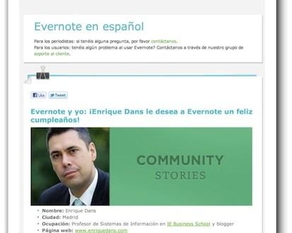 Felicitando a Evernote