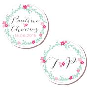 badge-mariage-couronne-fleurs