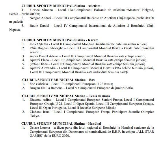16 20 ianuarie-Slatina își premiază valorile