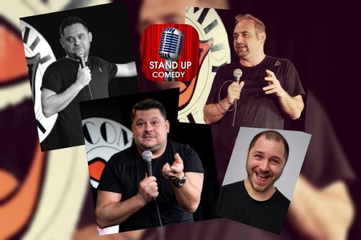STAND-UP COMEDY. Bobonete, Văncică, Mihai Rait și Bogdan Mălăele la Harlequin.