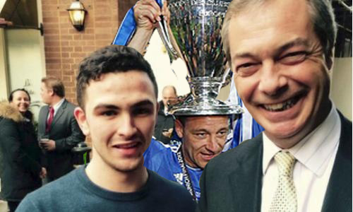 Terry is said to be unhappy with UKIP taken all the glory for his racists