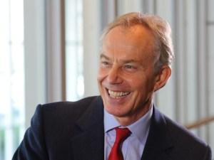 Blair happy