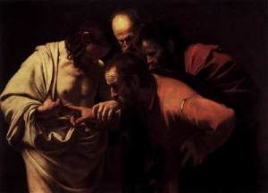 Caravaggio, The Incredulity of Thomas (1601)