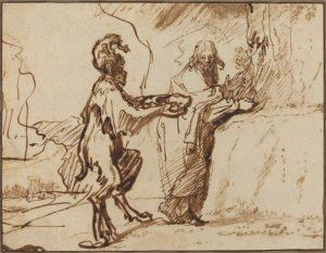 Rembrandt - Satan Tempting Christ
