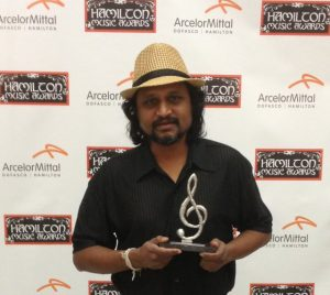 Neeraj Prem accepting our Hamilton Music Award