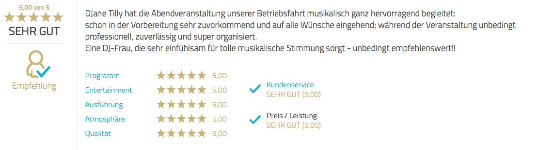 Hotel Bergström in Lüneburg - DJ buchen