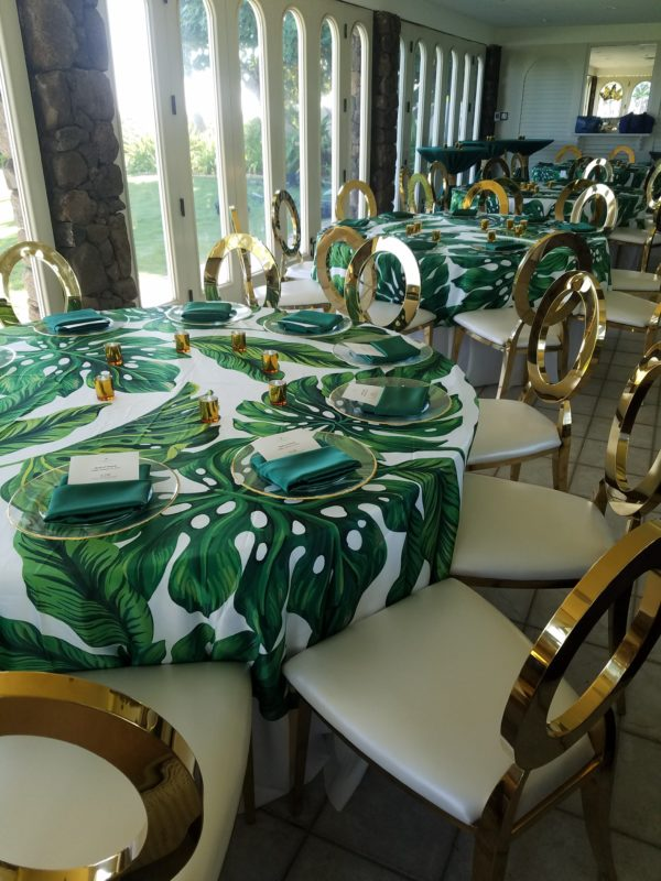 Gold O Chair  EventAccents