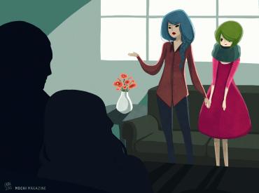 comingout-Illustration by Ubin Li