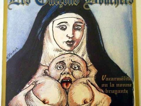 pochette de l'album la nonne vacarmelite du groupe les garçons bouchers
