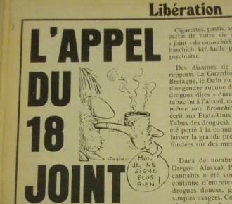 l appel du 18 joint dans Libération