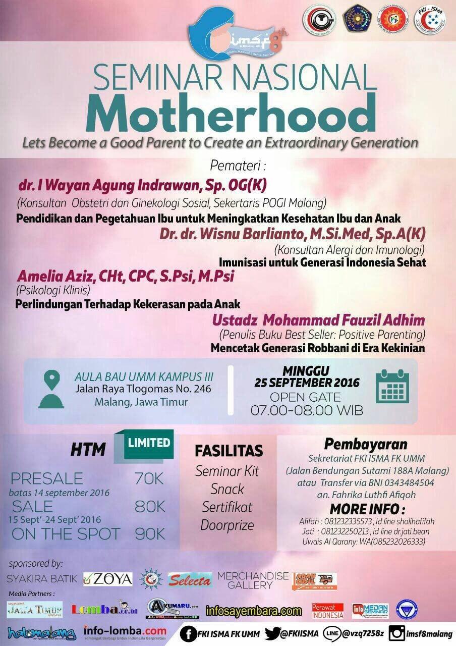 Seminar Nasional Motherhood | Event Apa Aja