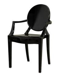 Black Ghost Chair - With Arms - Event Avenue
