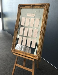 also seating chart on mirror with easel event avenue rh eventavenue