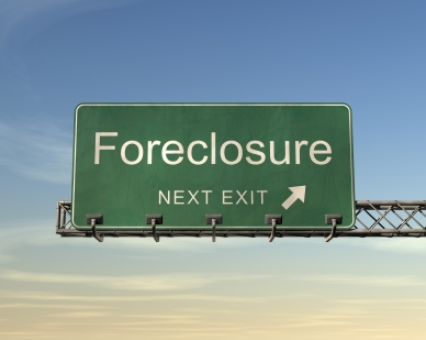 Foreclosure This Exit: Highway Sign