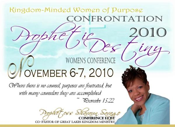 KingdomMinded Women of Purpose Confrontation 2010