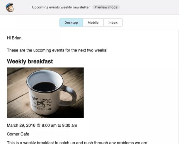 event-calendar-mailchimp
