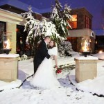 winter wedding lehigh valley | event center at blue winter wedding outdoor photos